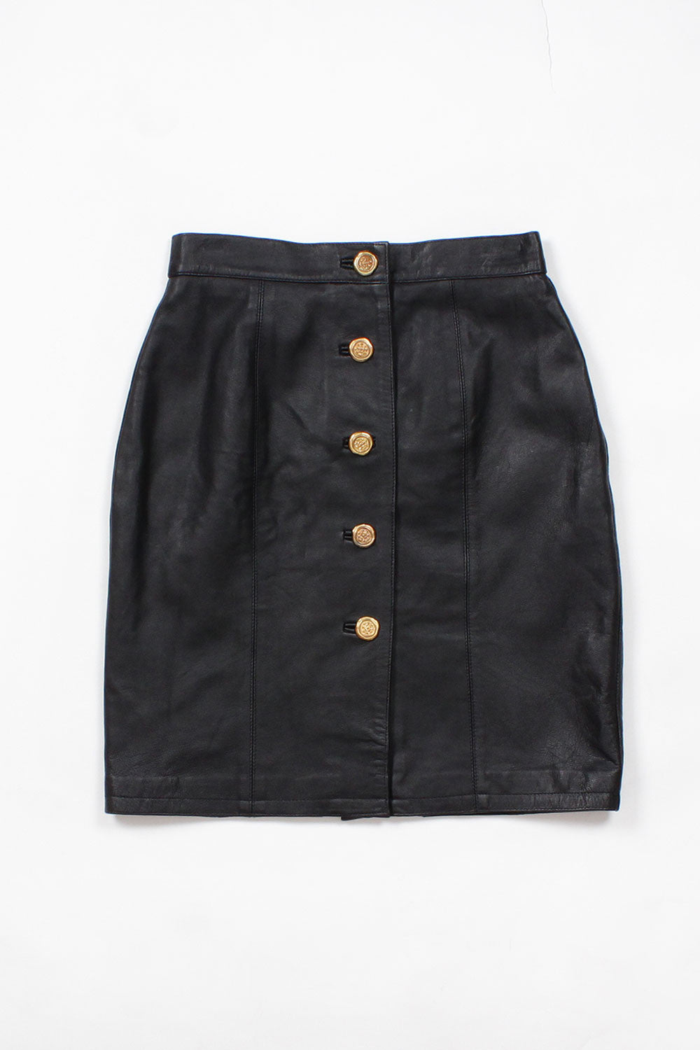 Black Leather Crest Skirt XS/S