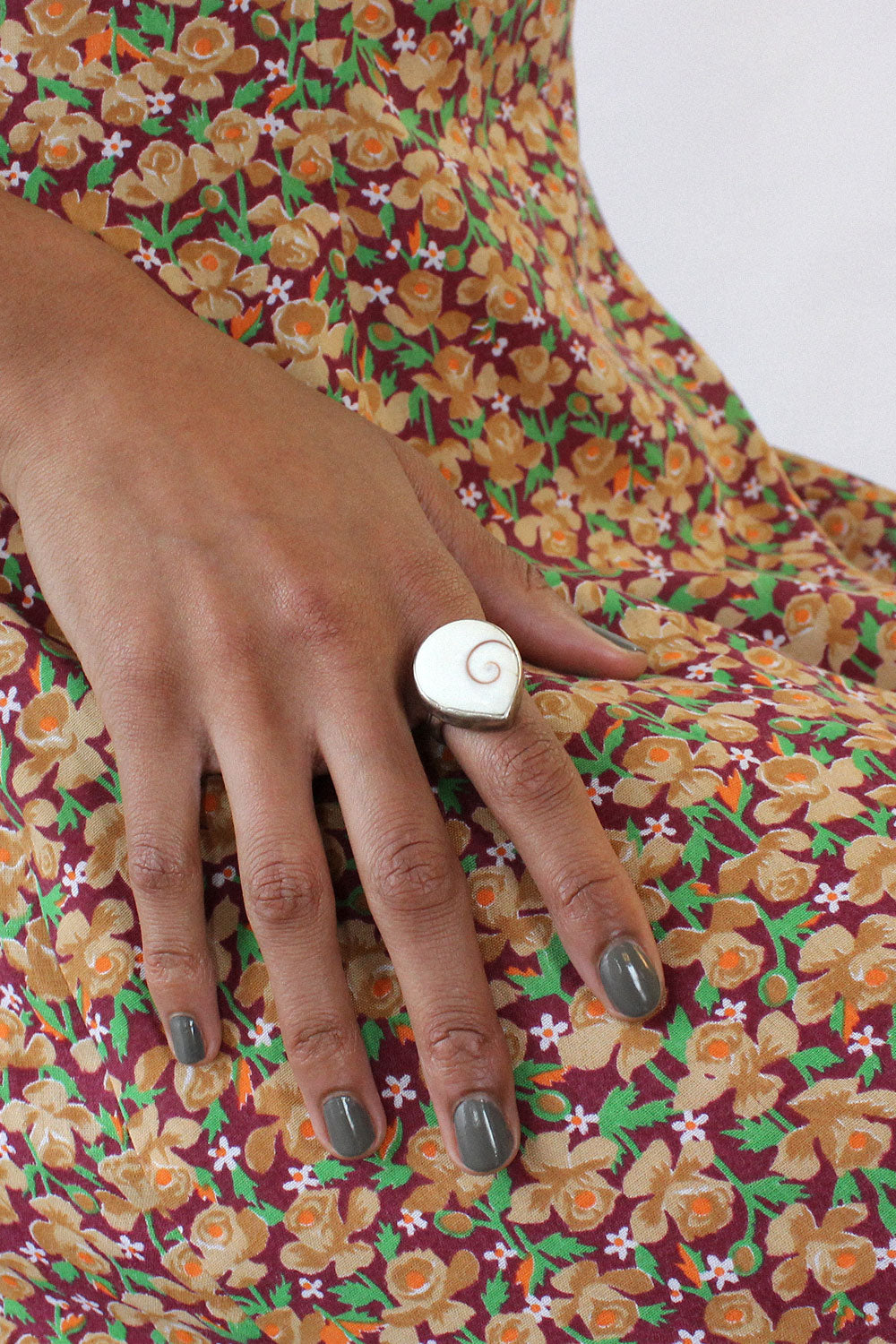 Teardrop Shell Ring