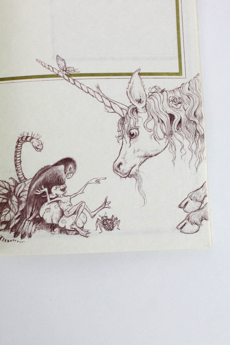 The Unicorn Notebook • 1981 Michael Green Illustrated Book