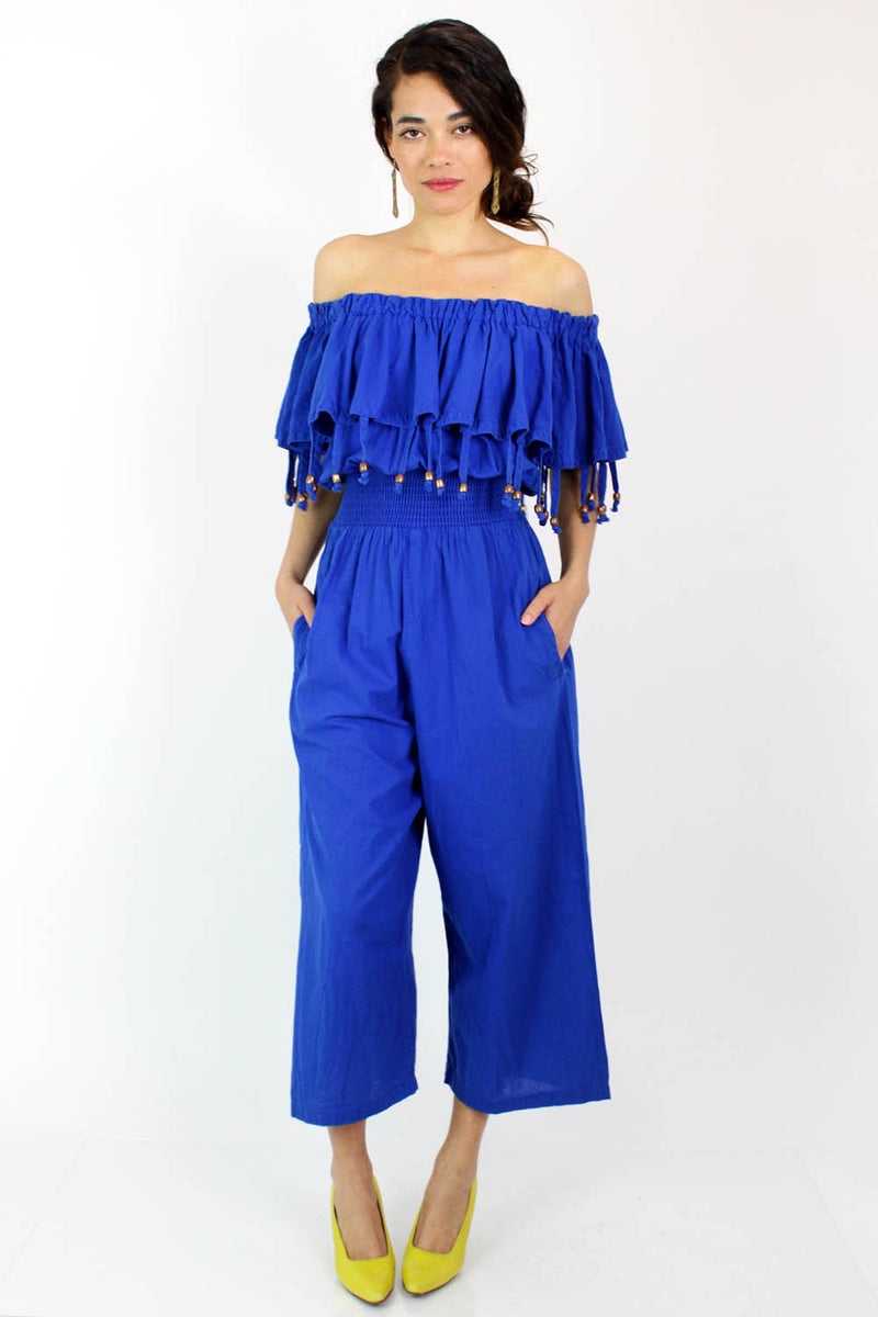 vintage wide leg jumpsuit