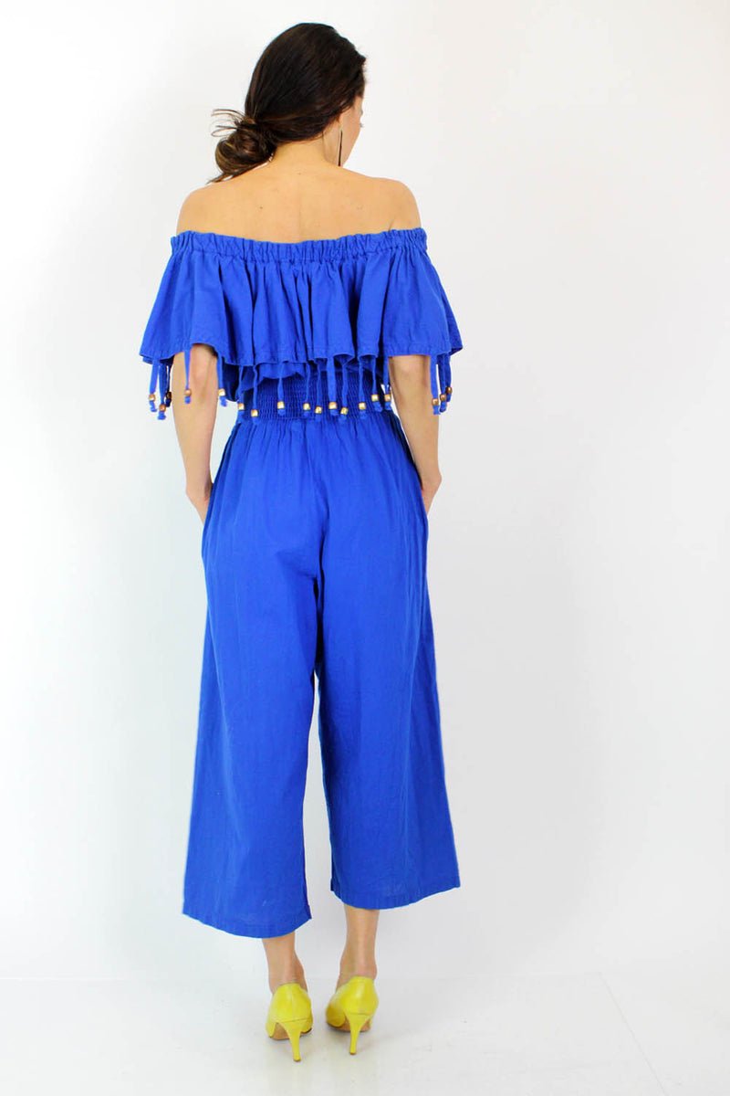 cobalt blue jumpsuit