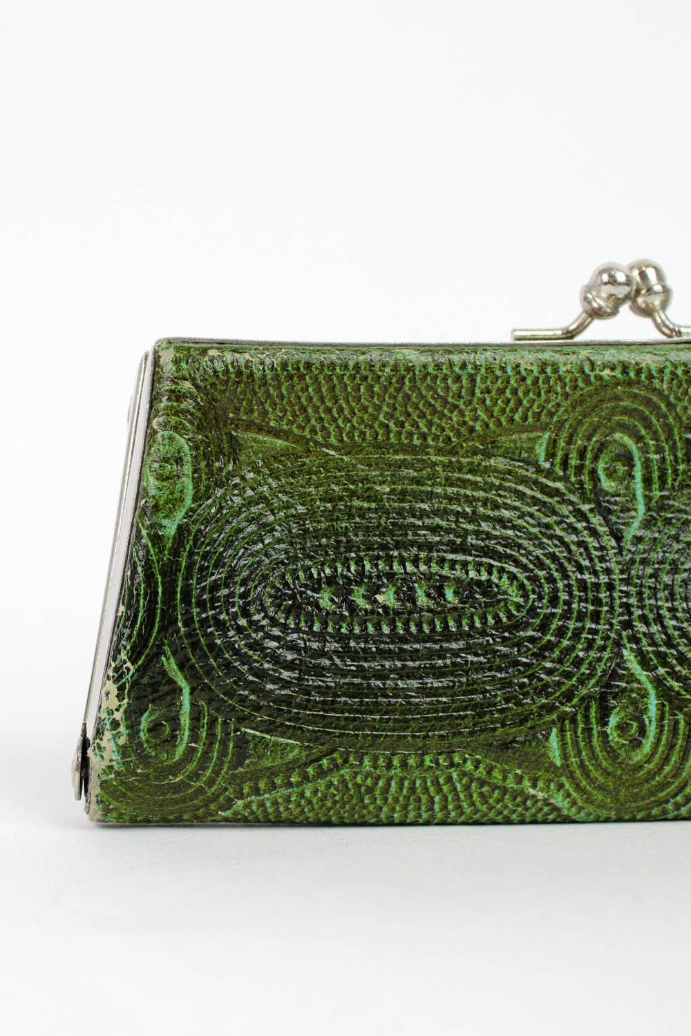 SALE / 60s Green Tooled Case