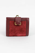 burgundy suede wallets