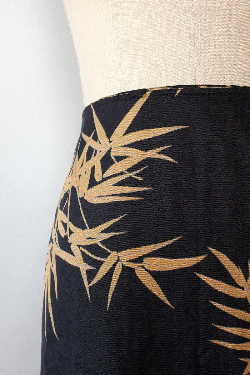 Bamboo Silk Short Skirt L