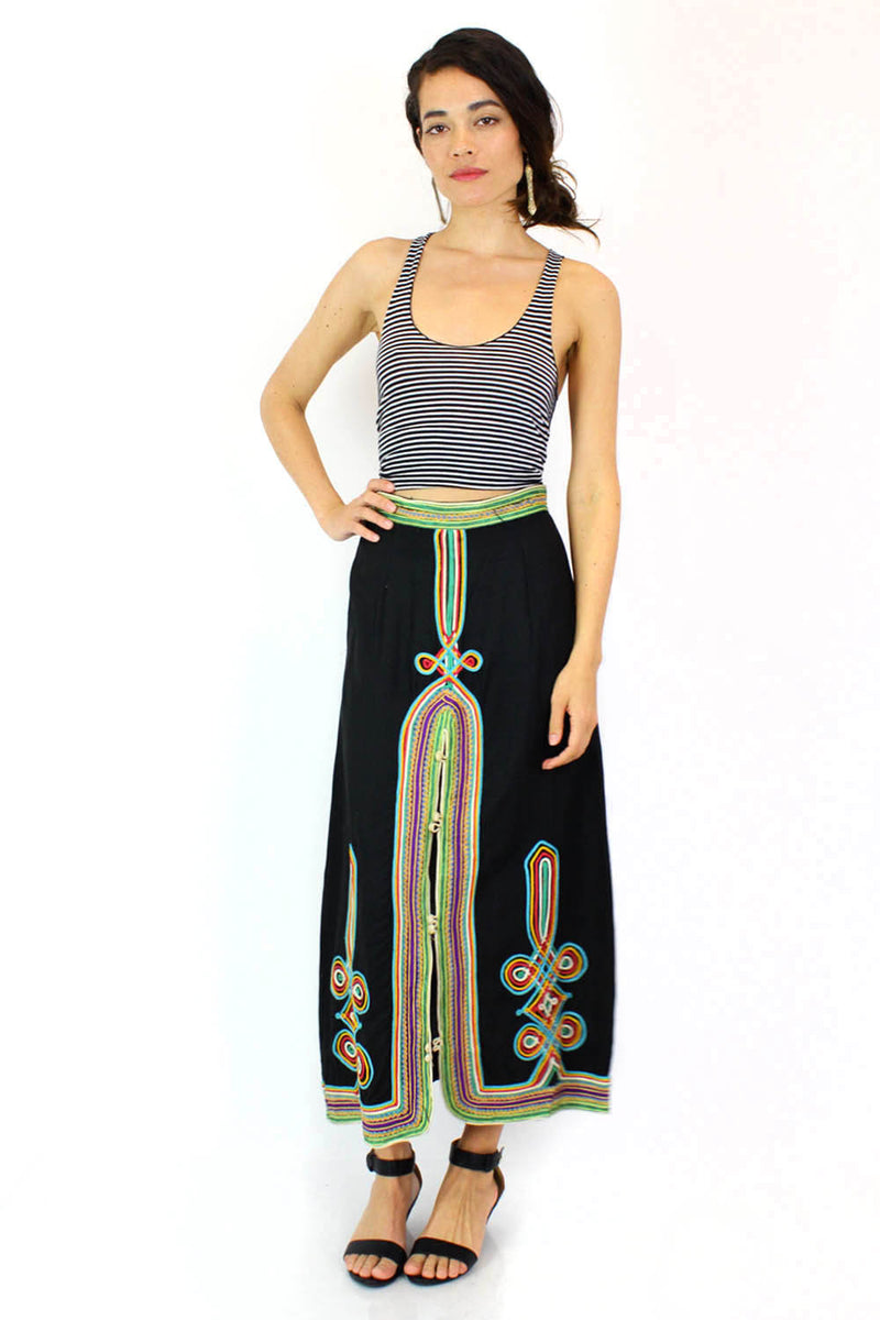 Moroccan Embroidered Skirt S/M