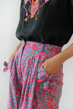 Pink Floral Tie Shorts XS-M