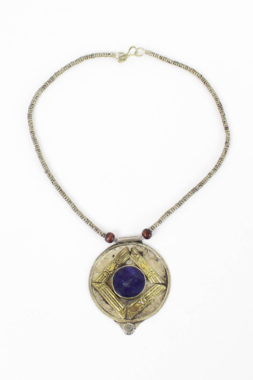 vintage lapis tribal bohemian necklace
