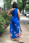 Asymmetrical Hawaiian Dress M