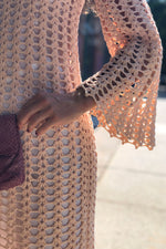Blush Crochet Dress XS-M