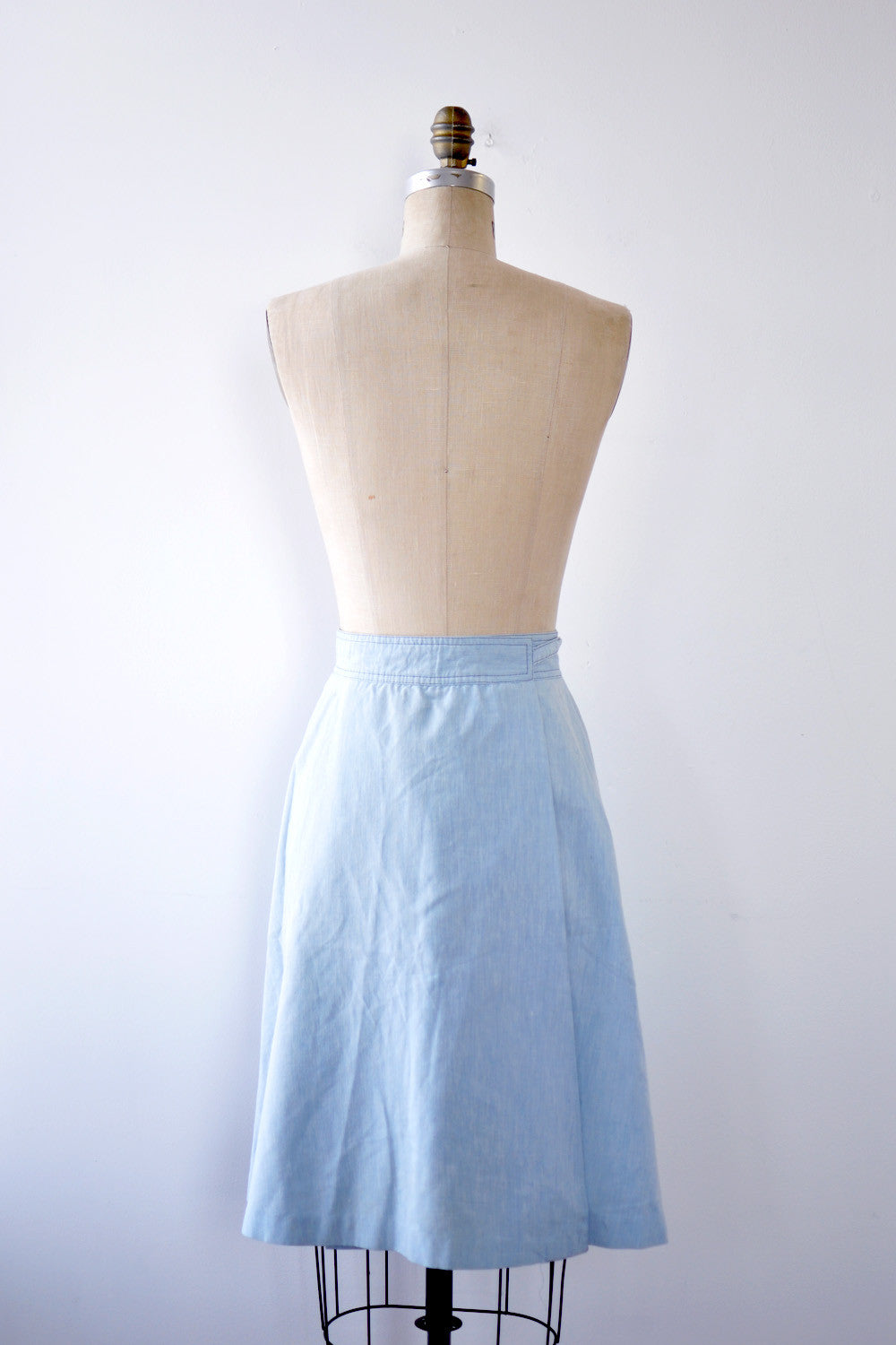 College Chambray Wrap Skirt S – OMNIA