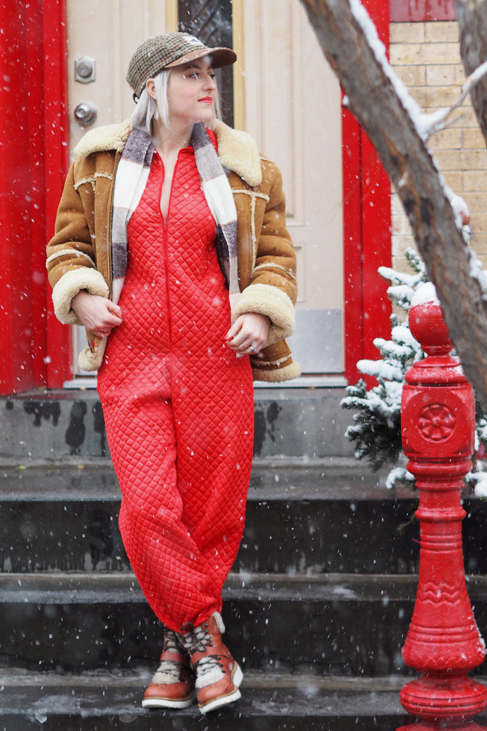 Cabin Fever Quilted Jumpsuit S