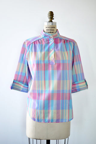 Lindsey Plaid Tunic Blouse