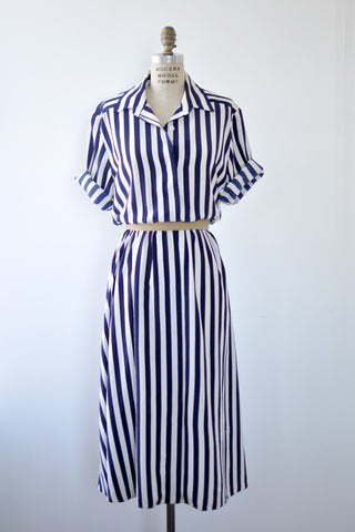 Yacht Life Stripe Dress L