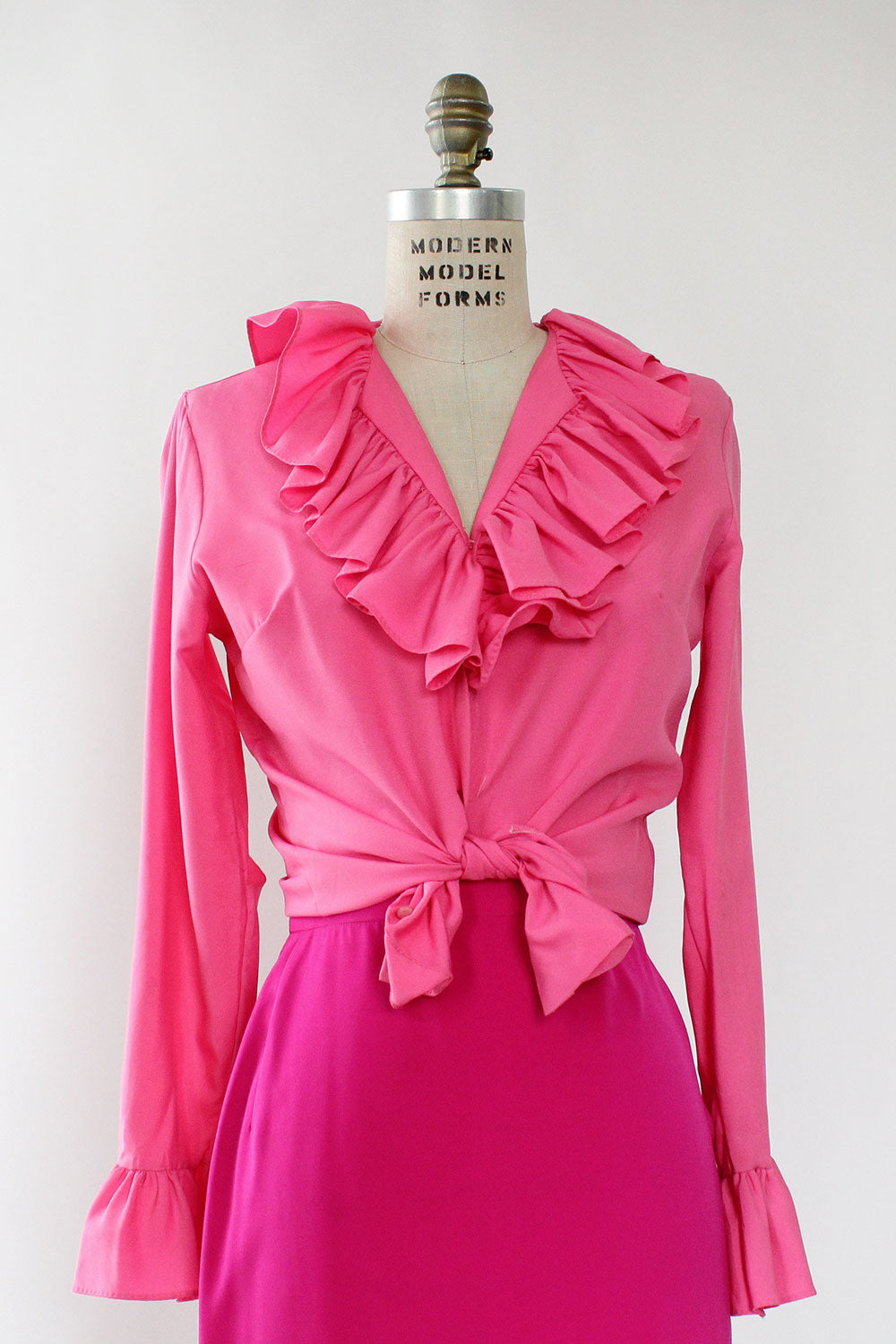 Hot Pink Ruffle Blouse M