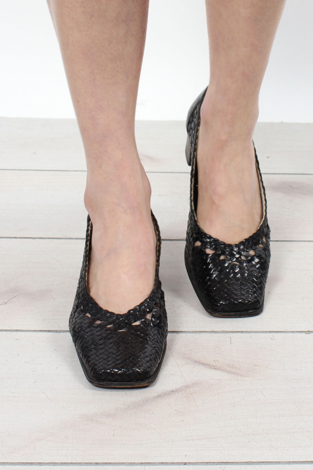 Botticelli Woven Leather Shoes 6.5-7