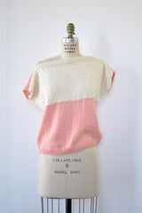 Strawberry & Cream Knit Top XS/S/M