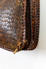 Sale / Geometric Tooled Leather Bag