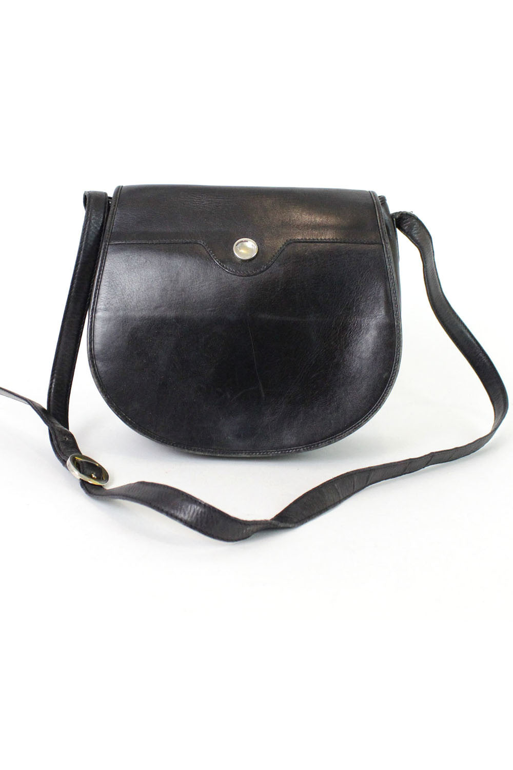 Movado Jet Black Saddle Bag
