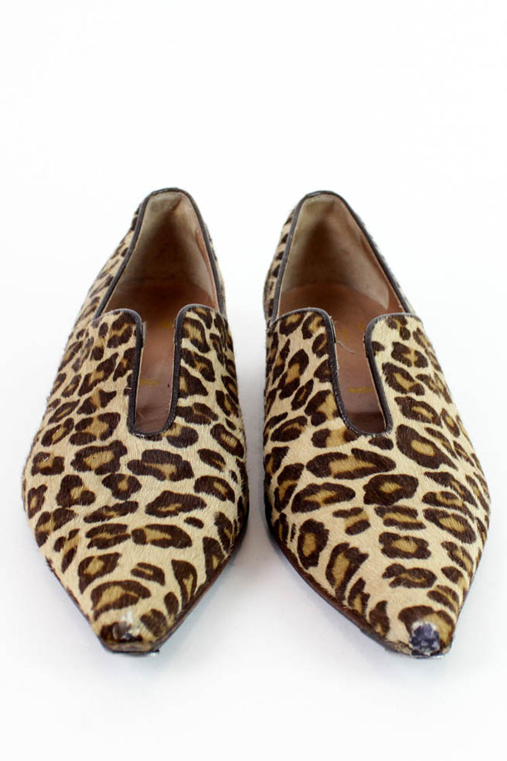 Leopard Pointed Flats 6
