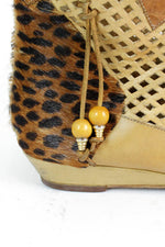 Leopard Tribal Ankle Boots 7
