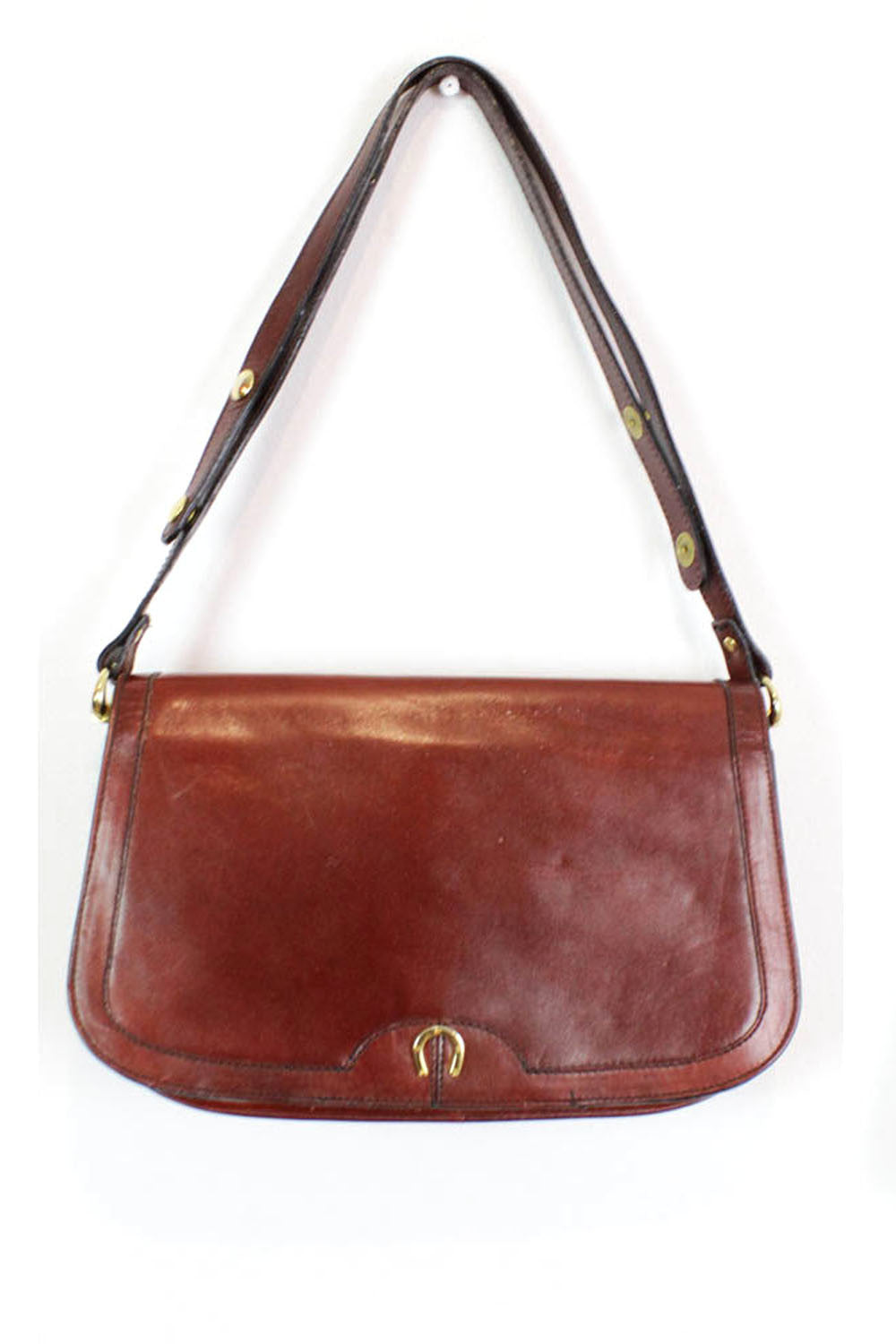 Burgundy Horseshoe Saddle Bag