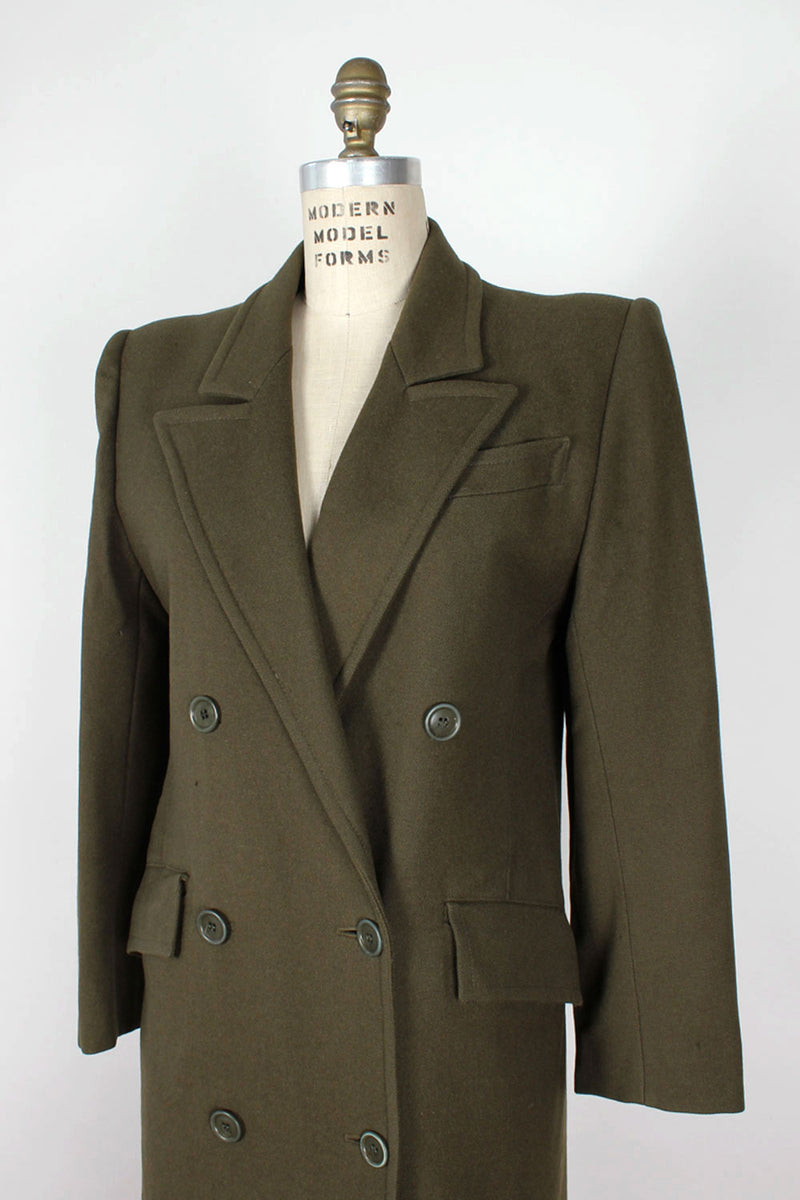 Guy Laroche Olive Overcoat S/M
