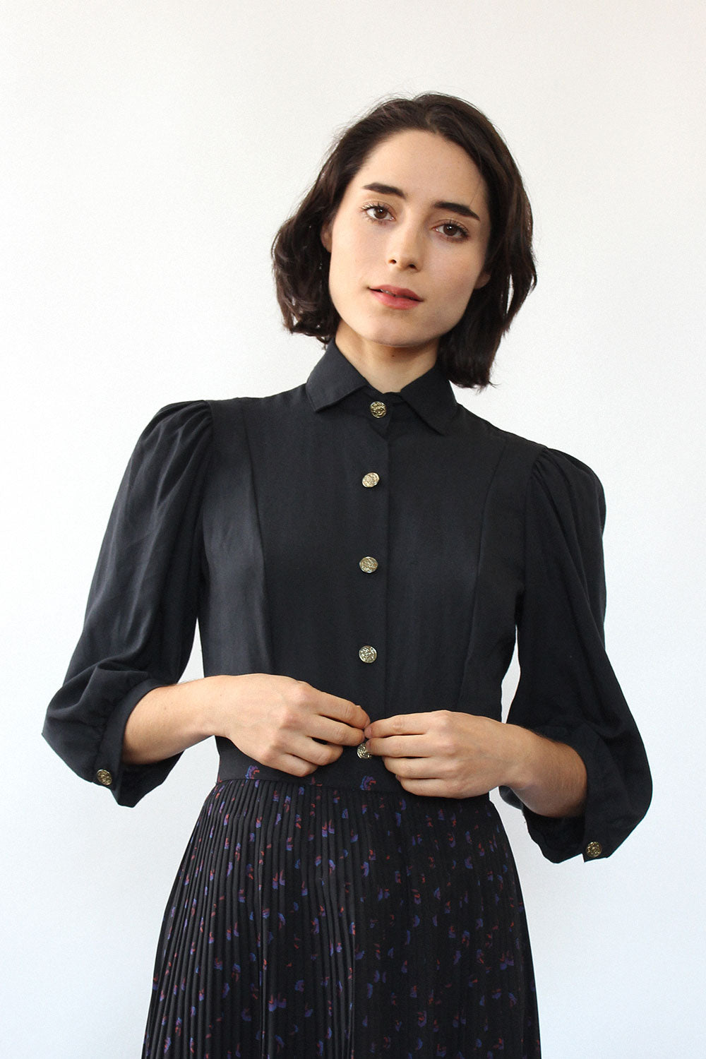 Mikaela Tailored Puff Blouse XS