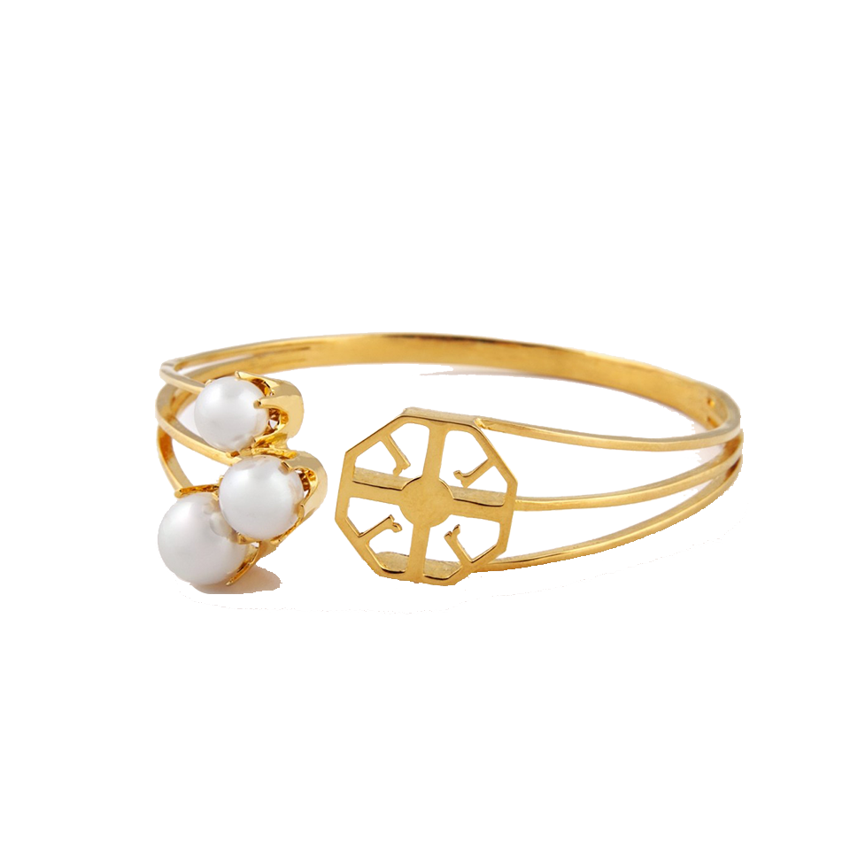 The pearl logo bangle