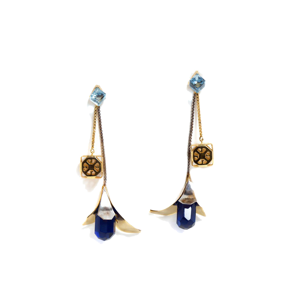 Swarovski petal earrings