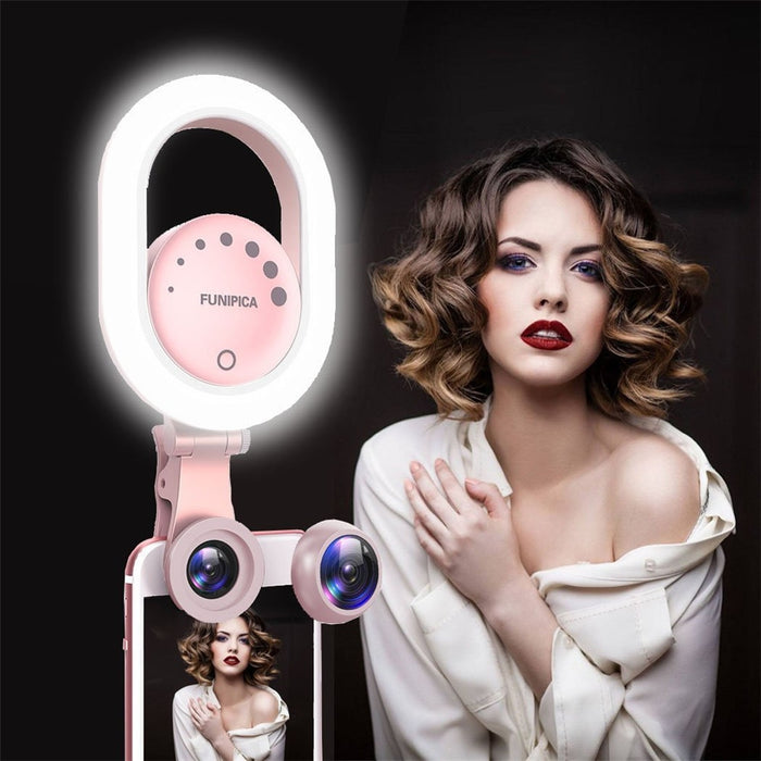 Rechargable Selfie Ring Light