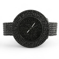 Black Totally Iced Out Custom Watch | ProductPro
