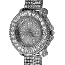 Big Rocks Full Hip Hop Watch  6 Row Band | ProductPro