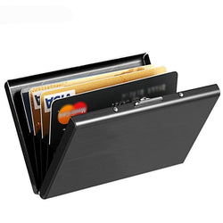 Klsyanyo Black Stainless Steel Metal Case wallet | Foofster LLC