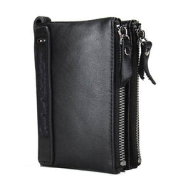 CONTACT'S HOT Genuine Crazy Horse Cowhide Leather Men Wallet | Foofster LLC