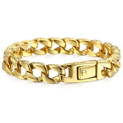 Trendsmax Gold Stainless Steel Charm Bracelet 916 | Foofster LLC
