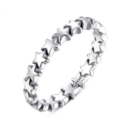 BAMOER Star Trail Stackable Finger Ring 920 | Foofster LLC