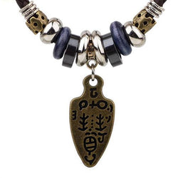 ER 2018 Male Tribal Leather Necklace 319 | Foofster LLC