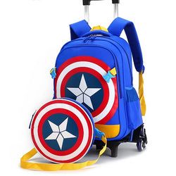 Captain America Children Anime Backpack Schoolbag | Foofster LLC
