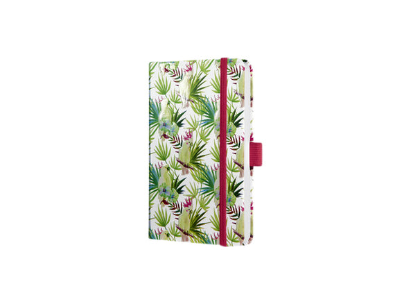 Notitieboek Sigel Jolie Beauty A6 lijn Limegreen tropics