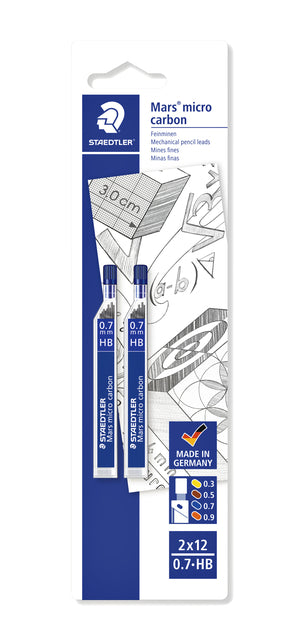Potloodstift Staedtler Mars Carbon Micro 0.7mm HB blister