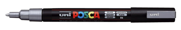 Verfstift Posca PC3M F zilver