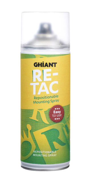 Lijmspray Ghiant Re-Tac herpositioneerbaar 400ml