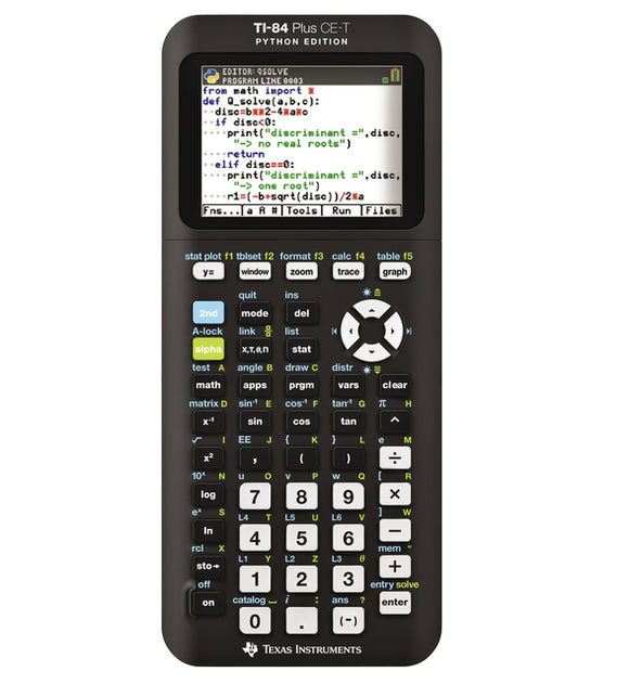 Rekenmachine TI-84 Plus CE-T teacher pack Python Edition (per 10 stuks)