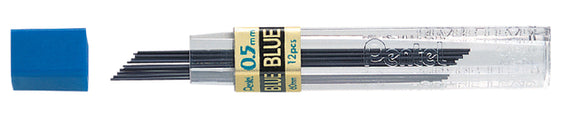 Potloodstift Pentel 0.5mm blauw per koker