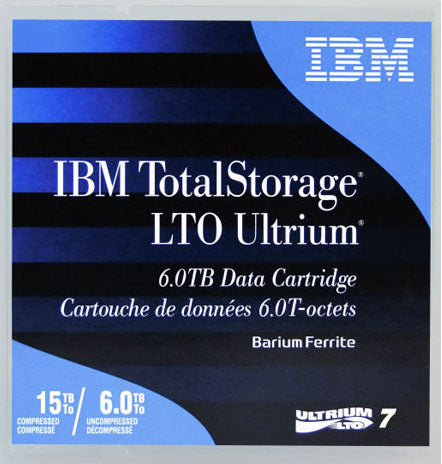IBM LTO 7 BaFe Ultrium Tape 6/15 TB 38L7302