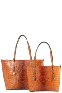 Ostrich Embossed 2 For 1 Totes - a wardrobe staple must have