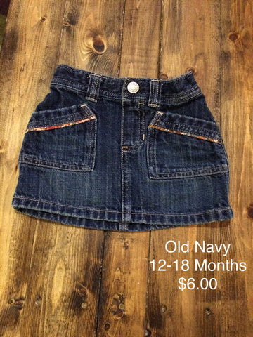 Old Navy Pocket Jean Skirt