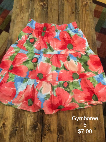 Gymboree Flower Print Skirt