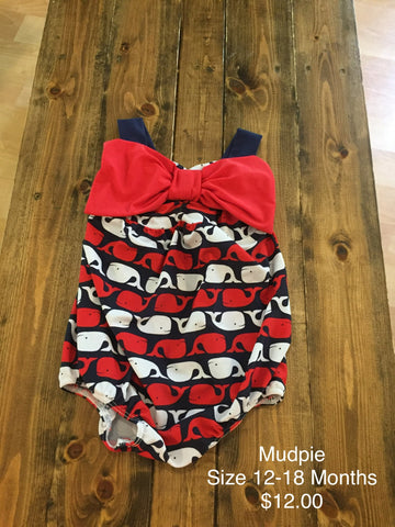 Mudpie Whale Print Swimsuit