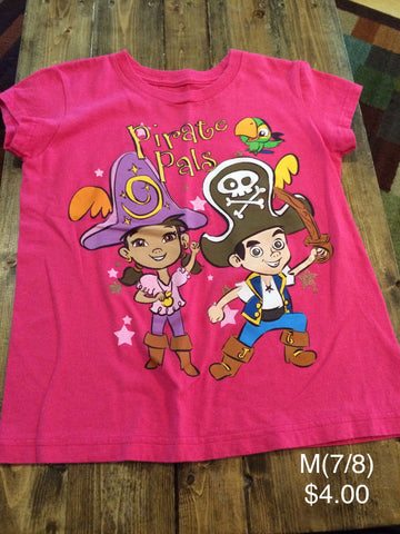 "Disney Store ""Pirate Pals"" Jake And The Never Land Pirates T-Shirt"